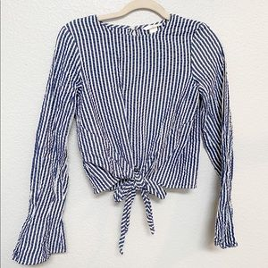 Striped Bell Sleeved Blouse